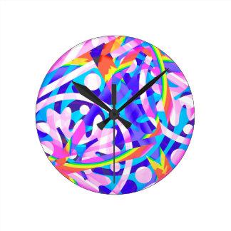 Relógio Redondo Conjunto de variação da violeta da cor
