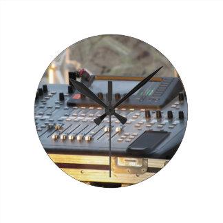 Relógio Redondo Console de mistura audio profissional