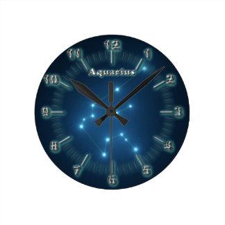 Relógio Redondo Constelação do Aquário