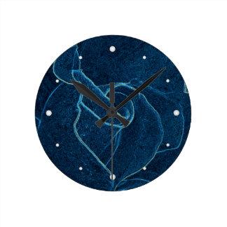 Relógio Redondo contorno do rosa do azul