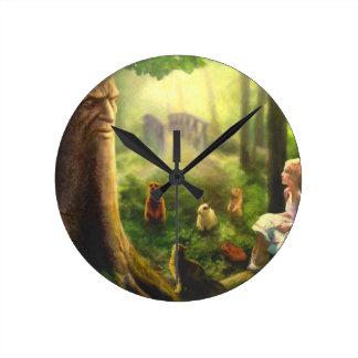 Relógio Redondo Contos da árvore de sussurro