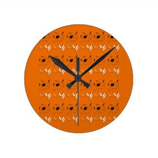Relógio Redondo Cor da argila dos elementos do design