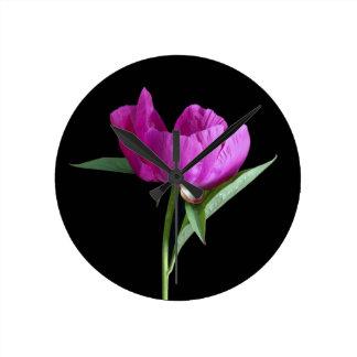 Relógio Redondo cor-de-rosa-peônia