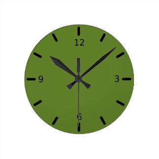 Relógio Redondo Cor verde Graciously social