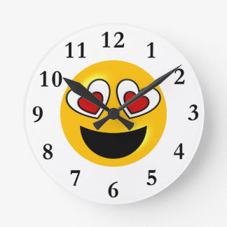 Relógio Redondo Coração Loving Emoji