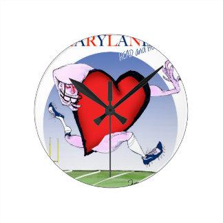 Relógio Redondo coração principal de maryland, fernandes tony