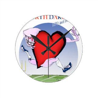 Relógio Redondo coração principal de North Dakota, fernandes tony