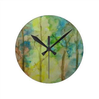 Relógio Redondo Cores do outono
