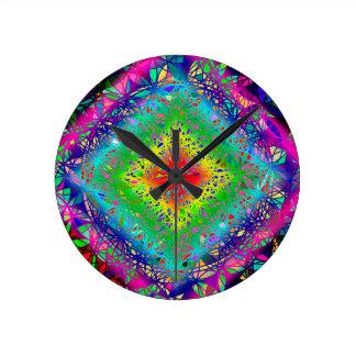 Relógio Redondo Cores e cristal de Psychedeli