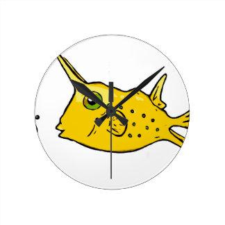 Relógio Redondo Cowfish de Longhorn