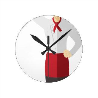 Relógio Redondo Cozinheiro chefe com espátula