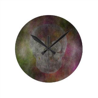 Relógio Redondo Crânio