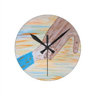 Relógio Redondo Criança que guardara a mão do pai