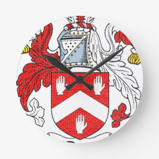 Relógio Redondo Crista da família de O'Byrne