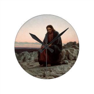 Relógio Redondo Cristo de Ivan Kramskoy- nas belas artes da região