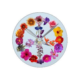 Relógio Redondo Cronometre o sinal de paz feito das fotografias