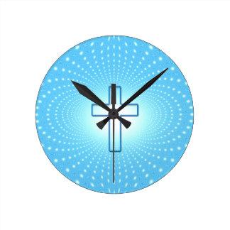 Relógio Redondo cruz
