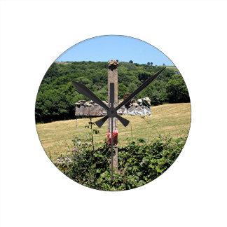 Relógio Redondo Cruz de madeira, EL Camino, espanha