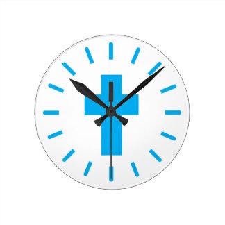 Relógio Redondo Cruz do Jesus Cristo