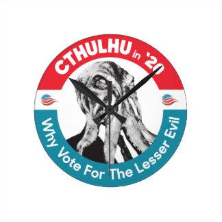 Relógio Redondo Cthulhu para o presidente 'em 20