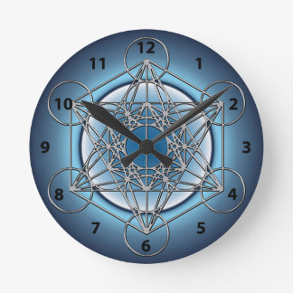 Relógio Redondo Cubo de Metatrons