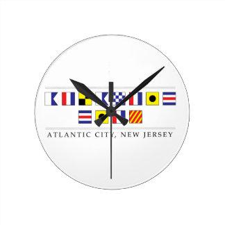 Relógio Redondo Cumprimentos de Atlantic City