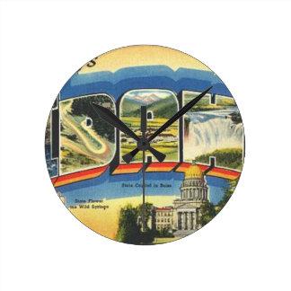 Relógio Redondo Cumprimentos de Idaho