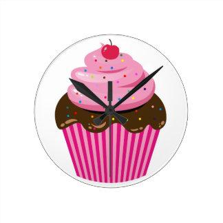 Relógio Redondo Cupcake