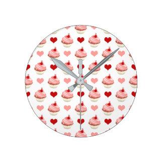 Relógio Redondo cuties dos cupcakes
