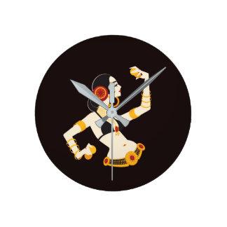 Relógio Redondo dançarino de barriga tribal da fusão com pratos