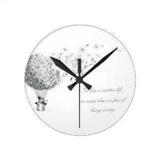 Relógio Redondo dandylion hotair