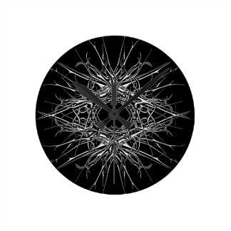 Relógio Redondo dark metal