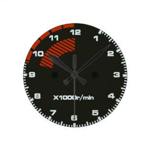 1f73e1f9a6a Relógio Redondo Datilografe o pulso de disparo do tacômetro de R