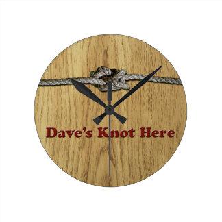 Relógio Redondo De Dave do nó SHORT aqui - Multi-Produtos