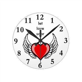 Relógio Redondo deixe o amor subir