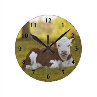 Relógio Redondo Descanso da vitela