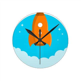 Relógio Redondo Descolagem do navio de Rocket