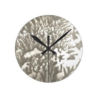 Relógio Redondo Deserto do metal
