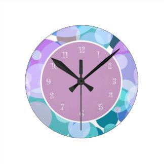 Relógio Redondo Design à moda das bolinhas modernas