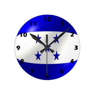 Relógio Redondo Design da bandeira de Honduras