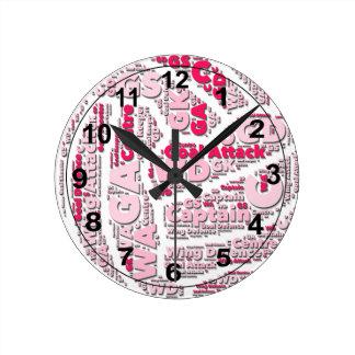 Relógio Redondo Design da bola das posições do Netball