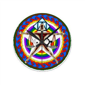 Relógio Redondo Design da crista