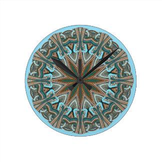 Relógio Redondo Design da Falso-malha da cerceta