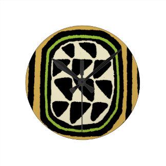 Relógio Redondo Design de matéria têxtil de Kuba do africano
