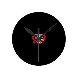 Relógio Redondo Design do coração da vela para o estado de
