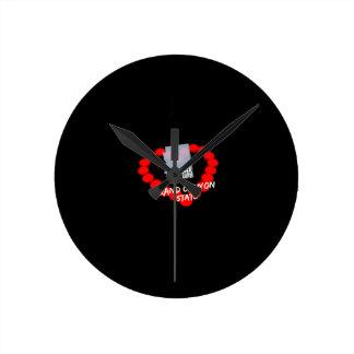 Relógio Redondo Design do coração da vela para o estado de arizona