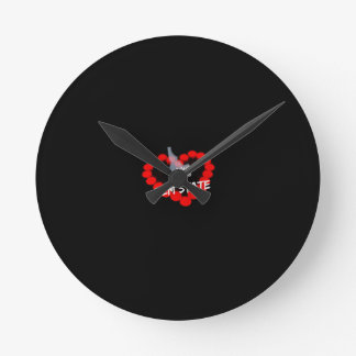 Relógio Redondo Design do coração da vela para o estado de Idaho
