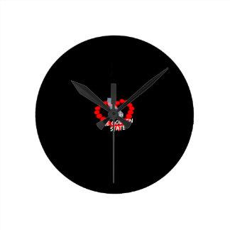 Relógio Redondo Design do coração da vela para os Estados da