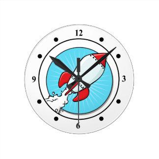 Relógio Redondo Design do divertimento do navio de Rocket dos