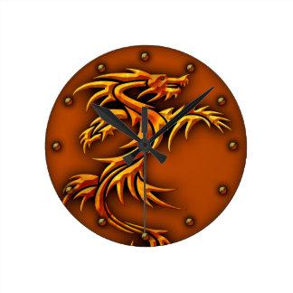 Relógio Redondo Design do dragão do pulso de disparo de parede na